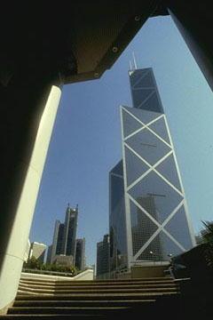 La banque de Chine (architecte: Ieoh Ming Pei), Hong Kong